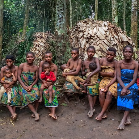 Baka people in Cameroon