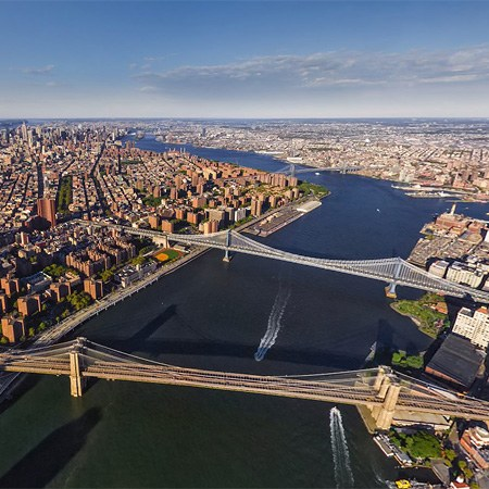 Helicopter Journey over Manhattan, New York, USA