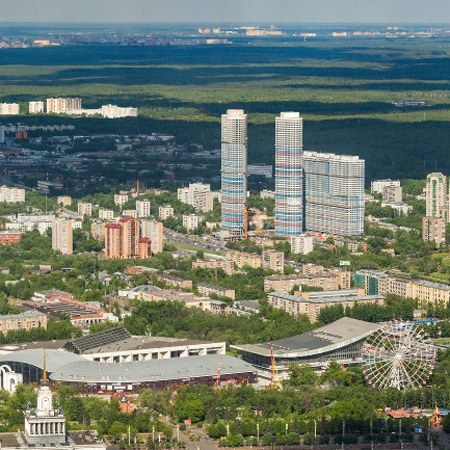 Gigapanorama of Moscow from the Ostankino Tower
