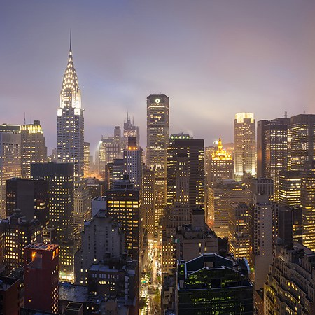 New York, Manhattan, Night