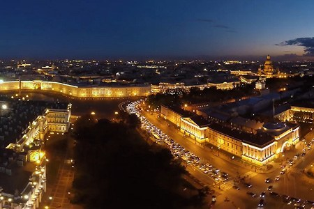 Saint Petersburg at night, Russia