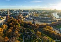 Above the Large Kremlin Square in autumn