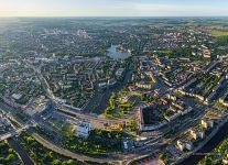 Bird's eye view of Kaliningrad. House of Soviets