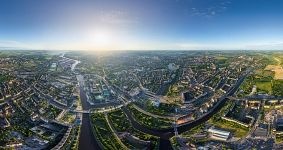 Bird's eye view of Kaliningrad