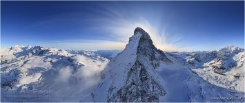 Switzerland, the Matterhorn Mountain and the Alps