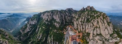 Abbey of Montserrat from above