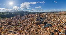 Toledo Cathedral. Panorama of Toledo