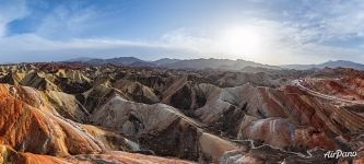 Panorama of the Zhangye Danxia Geopark