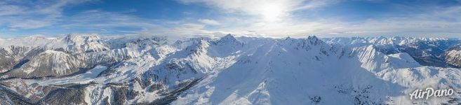 Altiport Courchevel. Panorama
