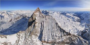 Switzerland, Western slope of the Matterhorn