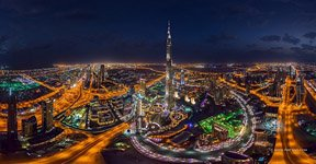 Burj Khalifa at night #4