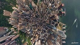 Over Hong Kong Central District