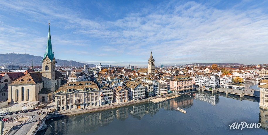 Limmat River. Zurich, Switzerland
