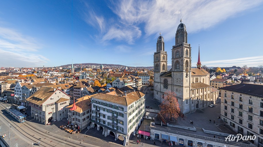Grossmünster. Zurich, Switzerland