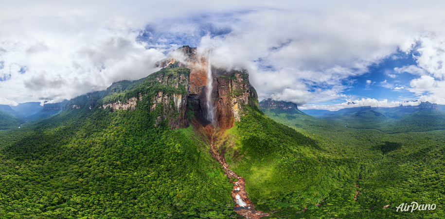 Angel Falls — the world's highest waterfall being 979 meters high