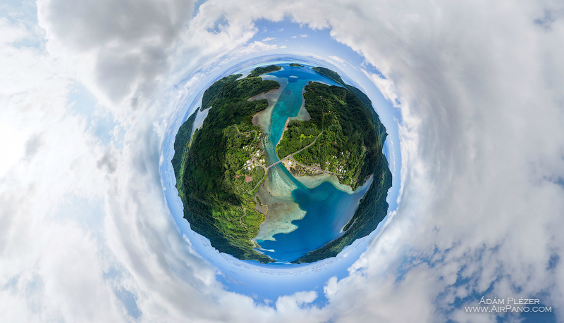 Planet of Huahine. Bridge between the islands Huahine-Nui and Huahine-Iti