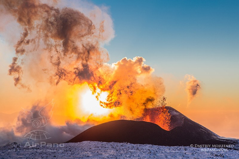 Eruption of Volcano Plosky Tolbachik Kamchatka, Russia, 2012