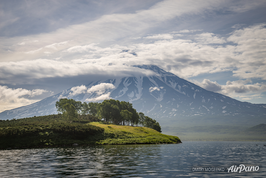 Bianki Island and Kronotsky volcano