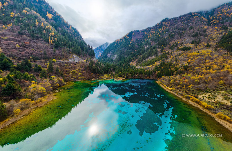 Five Flower Lake. National Park Jiuzhaigou, China