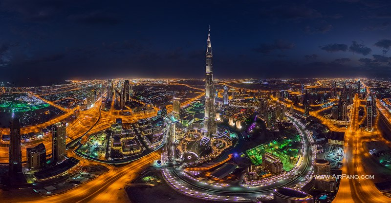 Dubai, UAE. Burj Khalifa at night