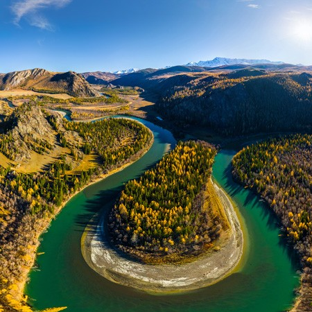 Altai, Chuya and Kuray steppes. Russia
