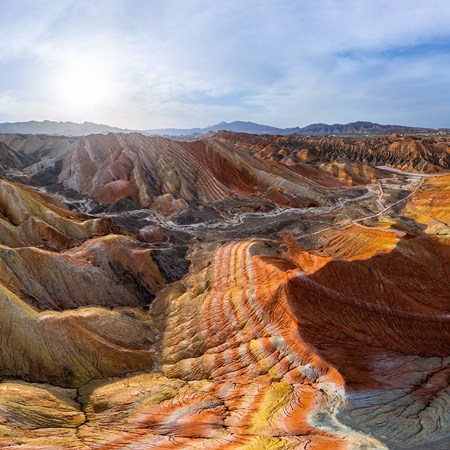 Colourful mountains of the Zhangye Danxia Geopark, China