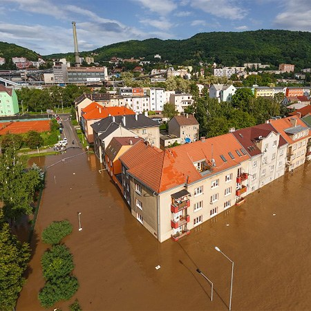Flooding in Czech Republic, Usti nad Labem, 2013