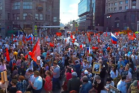March Immortal Regiment, Moscow, May 9,  2016