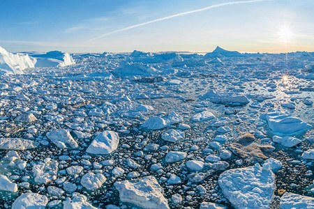 Icebergs of Greenland. Part I