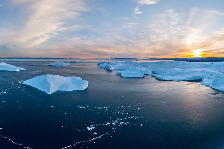 Icebergs of Greenland. Part IV
