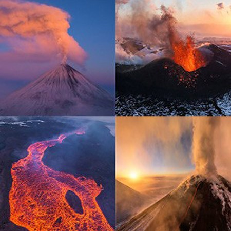 Best Volcanoes around the World from above