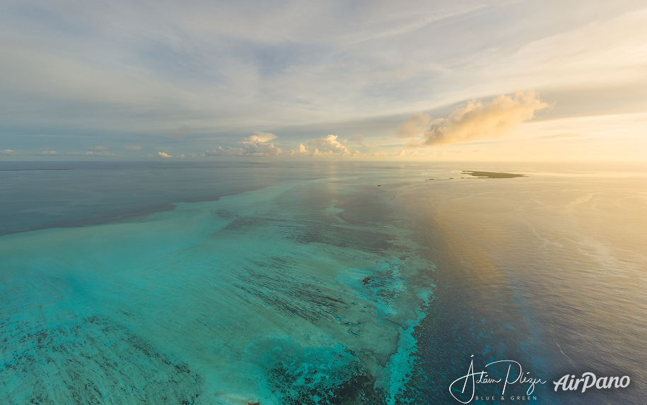 Cosmoledo Atoll at sunset
