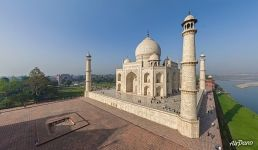 Taj Mahal from the north-east