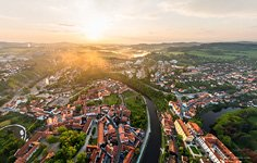 Krumlov at sunrise