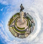 Marquis of Pombal monument. Planet