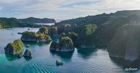 Aerial view of Pianemo Island, Raja Ampat