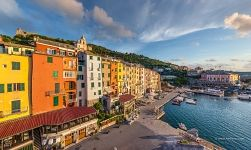 Colourful Houses at the embankment of Porto Venere