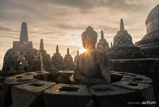 Sunrise in Borobudur