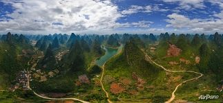 Guilin National Park. Over the Lake Valley