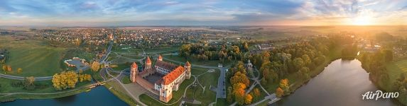 Mir Castle from above. Panorama
