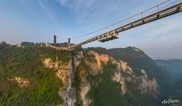 Zhangjiajie Glass Bridge bottom view