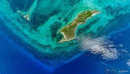 Above West North Island, Cosmoledo Atoll