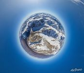 Bolshoi Aktry glacier. Planet