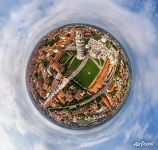 Old city, the Leaning Tower and Duomo cathedral. Planet
