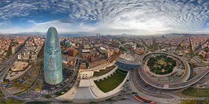 Barcelona, Spain. The Agbar tower