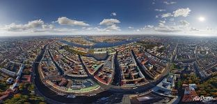 Bird's eye view of St. Petersburg