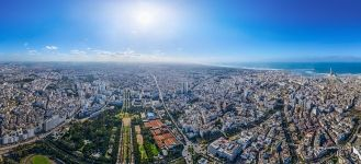 Casablanca from the altitude of 310 meters